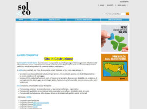 Screenshot homepage della Cooperativa Sol.co