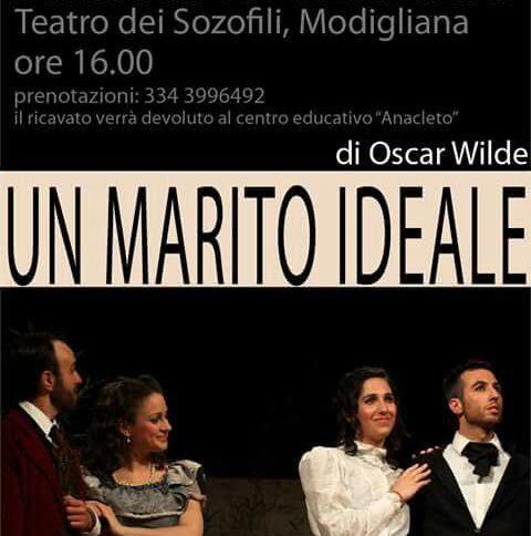 Locandina spettacolo teatrale Un Marito Ideale di Oscar Wilde